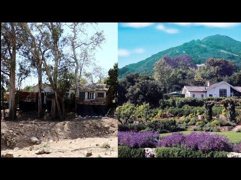 #635 DESTROYED Santa Barbara CELEBRITY Wedding Ranch Mudslide Aftermath (5/3/2018)