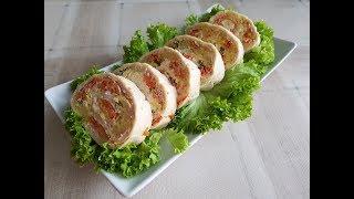 Закуска 'Оливье-рулет'! Salatrolle Olivie