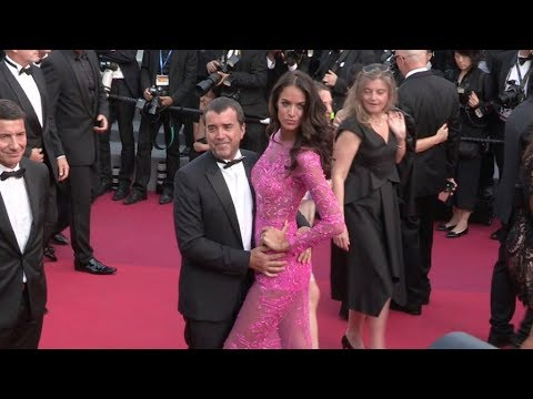 Jade Foret and Arnaud Lagardere on the red carpet in Cannes