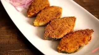 Rava Fish Fry Recipe  Mangalore Style Fish Fry  King Fish  Masala Trails