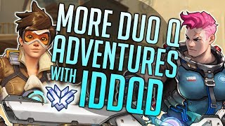 Overwatch - MORE DUO Q ADVENTURES with IDDQD