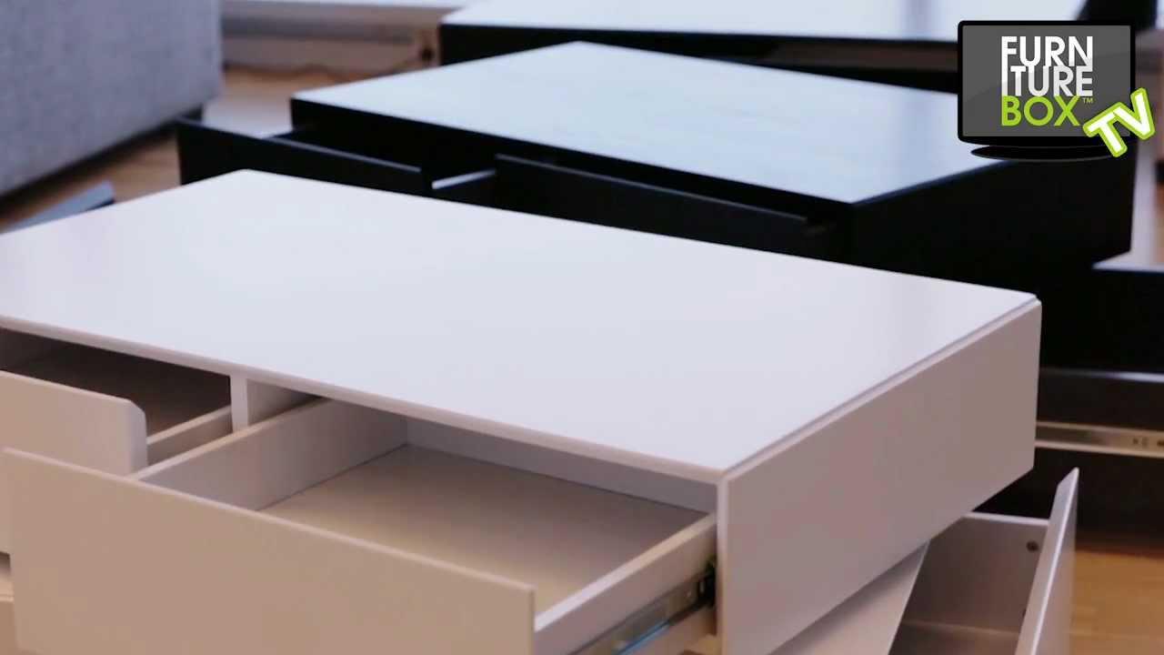 BASEBOX Soffbord Vit och Svart Furniturebox YouTube
