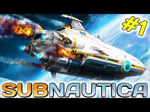 Subnautica #1 Начало Большого приключения из Космоса в Океан и Знакомство с местными Монстрами
