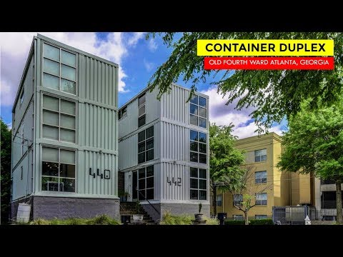 Shipping Container Duplex In Old Fourth Ward, Atlanta, GA.