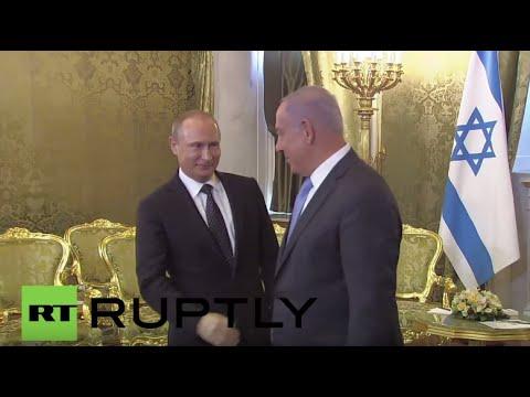 Russia: Putin Greets Netanyahu In Moscow