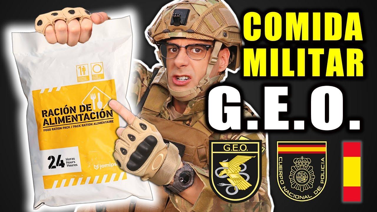 Probando COMIDA MILITAR del GEO Grupo Especial de Operaciones 24 Horas   Curiosidades con Mike