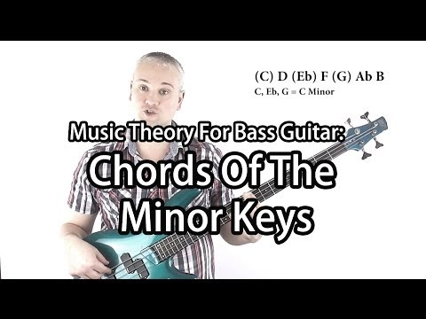 Chords In A Minor Key For Bass Guitar (Harmonic Minor & Melodic Minor)
