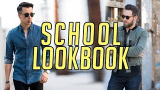 6 Back to School Looks for High School and College || Men's Fashion Lookbook 2017 || Gent's Lounge