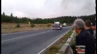 The coolest video you will see all day.  Bad ass semi Truck