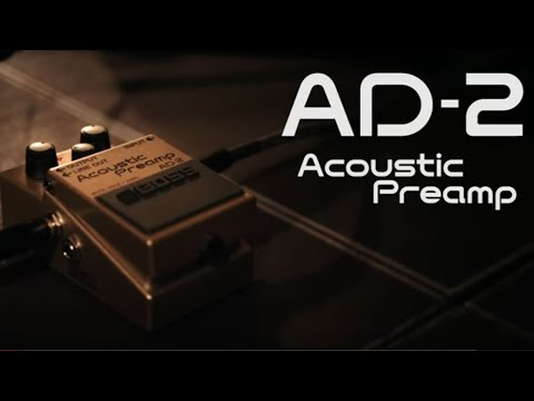boss ad 2 acoustic preamp guitar pedal ln82677 scan uk. Black Bedroom Furniture Sets. Home Design Ideas
