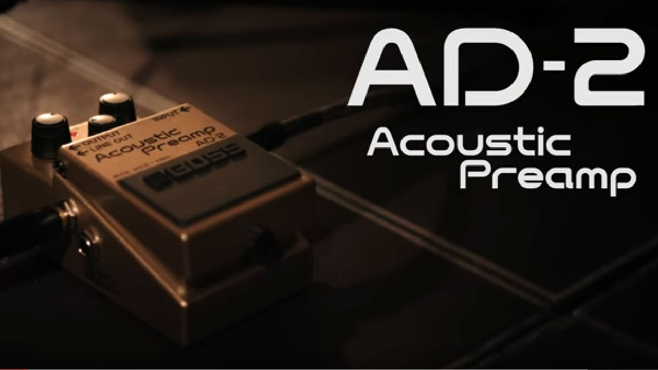 Boss AD-2 Acoustic Preamp w// Cables
