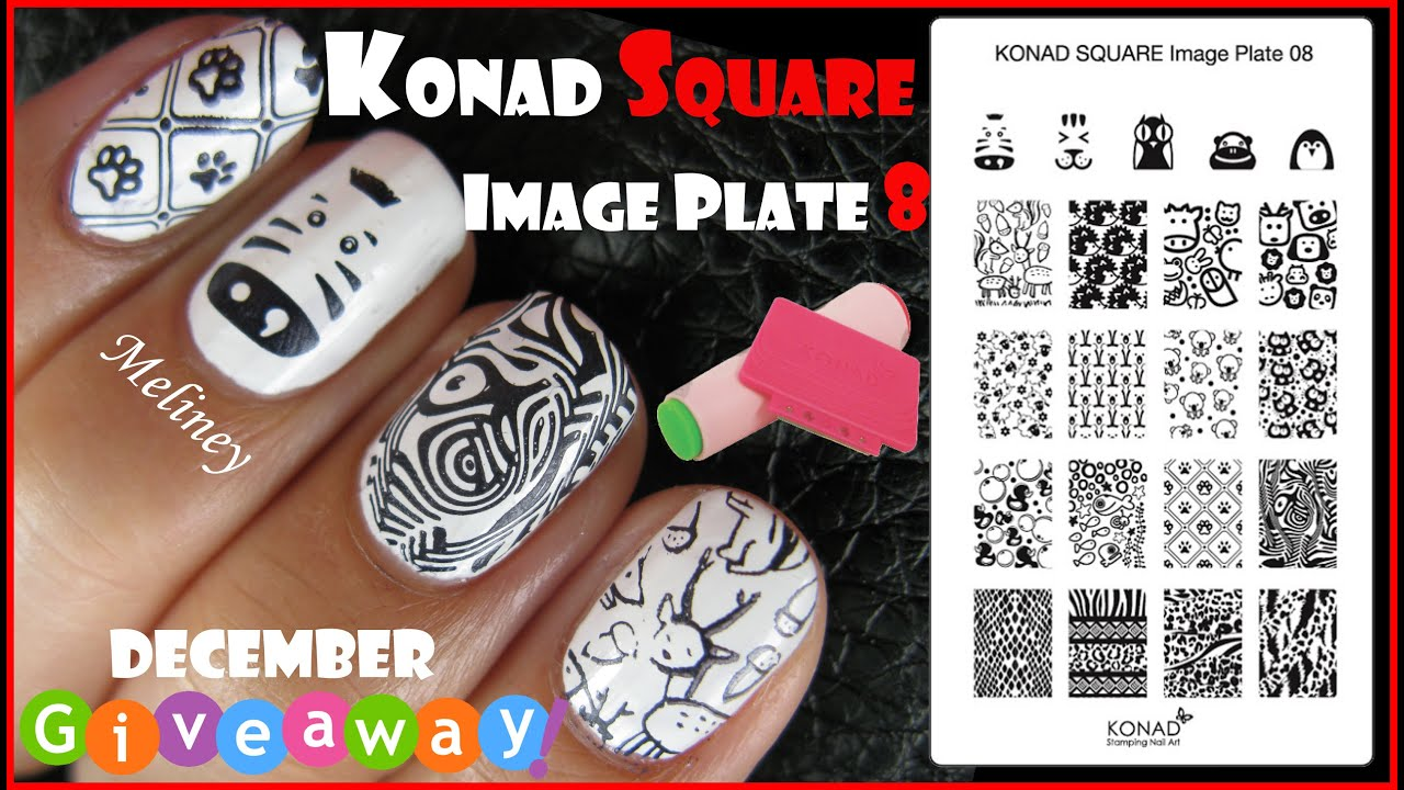 Konad square image plate 8 animal zebra print stamping nail art konad square image plate 8 animal zebra print stamping nail art design tutorial giveaway youtube prinsesfo Image collections