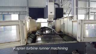 kaplan turbine runner machining