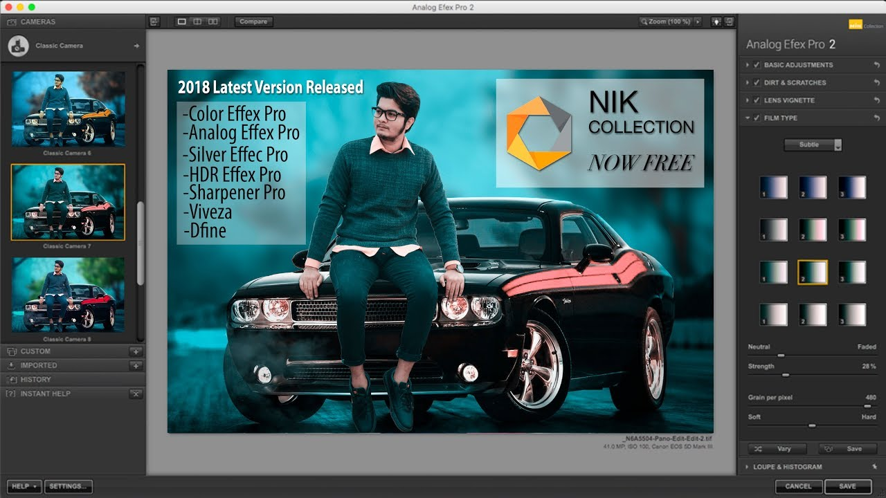 how to add nik collection to photoshop cc 2018