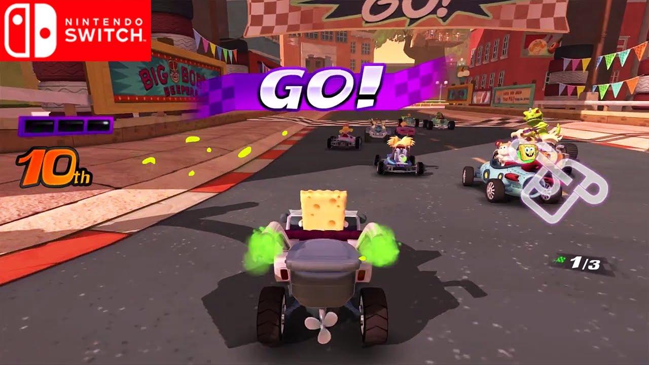 Nickelodeon Kart Racers   Debut Gameplay Trailer   Upcoming Nintendo Switch