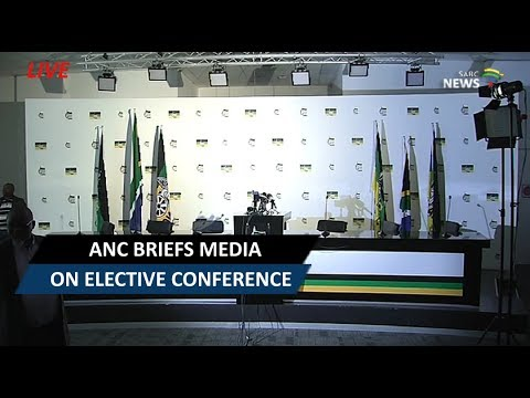 ANC briefs media on elective conference