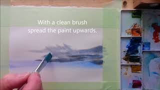 How to paint Clouds and Sky in watercolor. In real time. Simple, easy and fun.