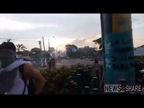 Raw Footage: Live fire against protesters in Nicaragua