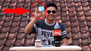 bagaimana jika coca cola di campur dengan mentos + kondom