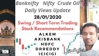 Banknifty nifty crude oil today view - swing trading short term investing stocks tamil share market