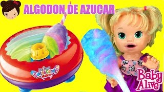 Maquina de Algodon Dulce - Muñeca Bebe sarita come algodon de azucar thumbnail