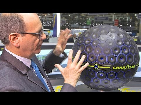The Future Tire? It's Spherical, Connected and Self-Repairing! [YOUCAR]