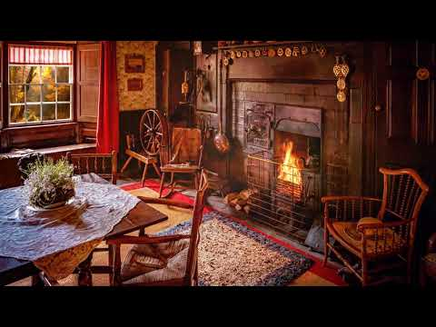 ambience/asmr:-family-kitchen-in-victorian-cottage,-with-fireplace-(19th-century-village),-5-hours