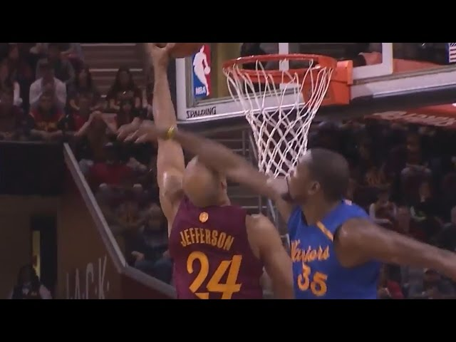 Richard Jefferson Posterizes Kevin Durant | Cleveland Cavaliers vs  Golden State Warriors