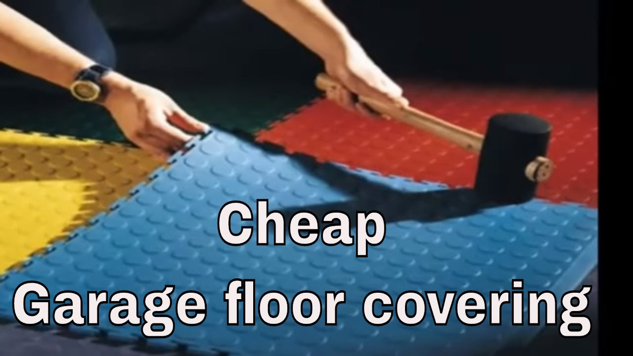 Cheap garage floor covering  YouTube