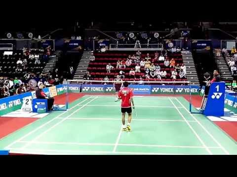 Lee Chong Wei vs Sourabh Verma | BWF India Open 2014 MS,R16-1/2 | Perfect Angle Badminton