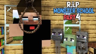 Monster School : RIP ALL  Monsters Part 4 (Sad story) - Minecraft Animation