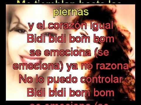 Selena Bidi Bidi Bom Bom con letra