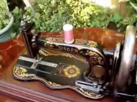 Antique old vintage hand crank 12k singer sewing machine see antique old vintage hand crank 12k singer sewing machine see video sell on ebay sciox Choice Image