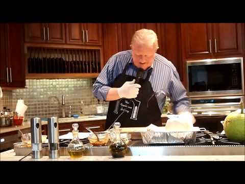 Cayman Islands Cooking demonstration - Roasting Breadfruit