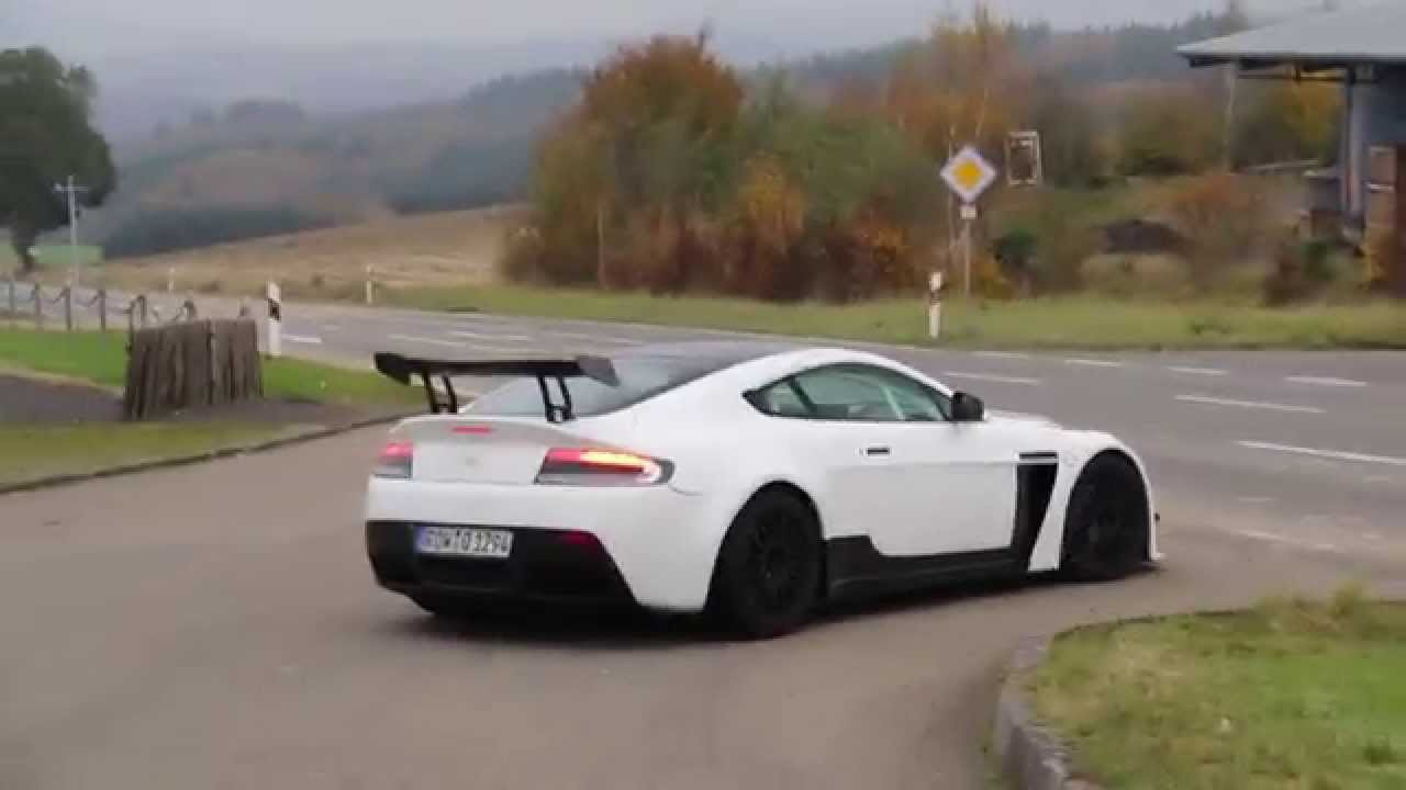 Road Legal Aston Martin V12 Vantage S Gt4 Startup And Acceleration Loud Sound Lovely Sounds