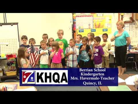Pledge of Allegiance by Mrs. Havermale's Kindergarten class at Berrian School in Quincy, IL