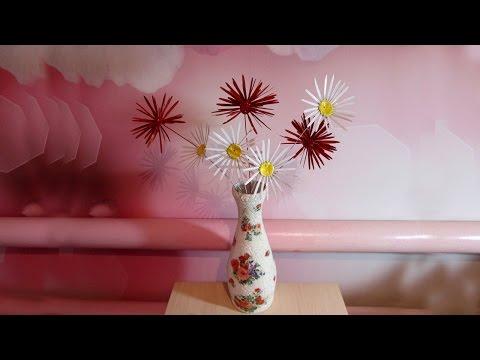 Цветы из пластилина и семян ясеня. Поделки с детьми