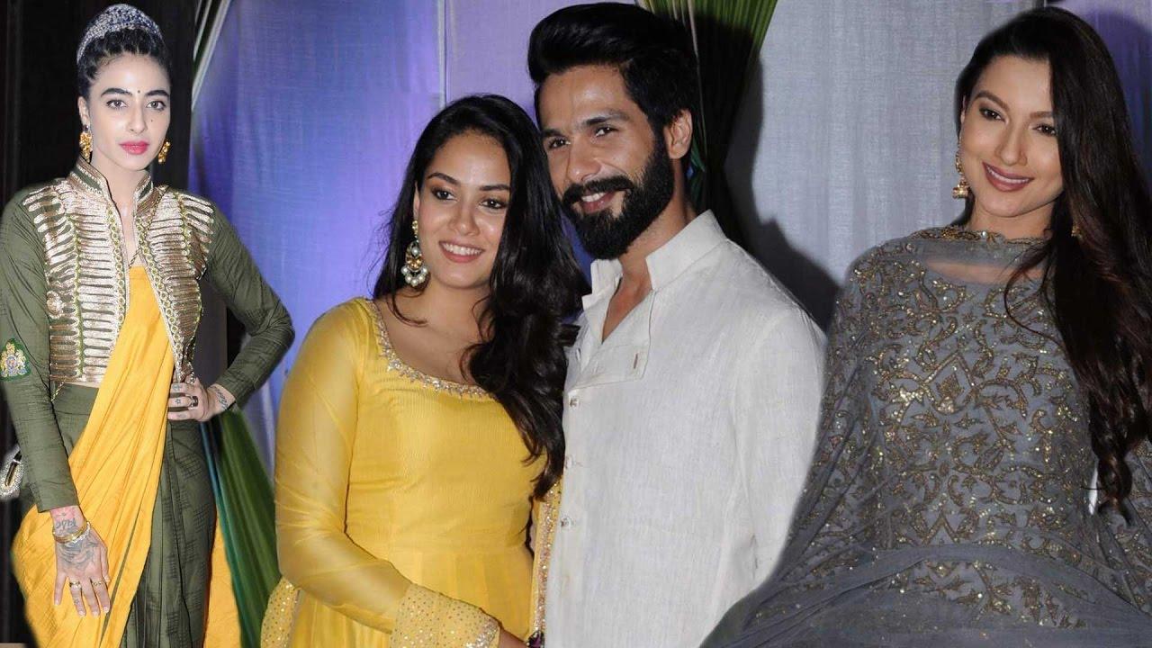 mandana karimi amp gaurav guptas wedding bash shahid