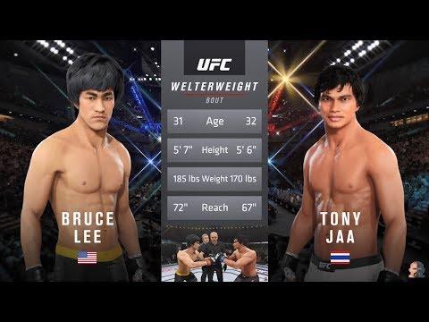 Bruce Lee Vs Tony Jaa EA Sports UFC 3 | NASTY KNOCKOUT!