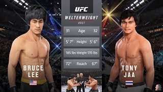 Bruce Lee Vs Tony Jaa EA Sports UFC 3 | NASTY KNOCKOUT!
