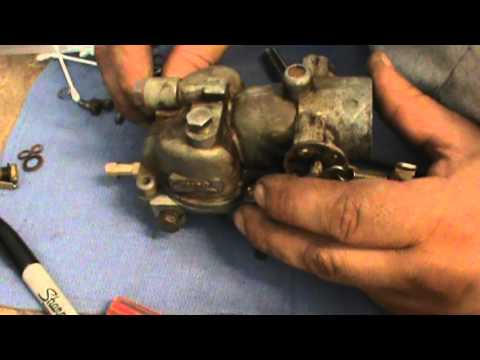 Reassembling a Zenith carburetor from 1947 Wisconsin VH4D
