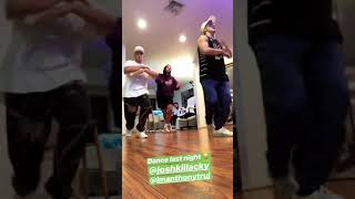 Jake Paul and Anthony Trujillo dancing on Never Recover