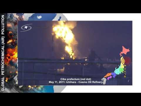 JAPAN: Cosmo Oil Refinery - Ichihara, Chiba prefecture - 20110311