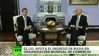 Medvédev espera que Rusia ingrese en la OMC en 2011