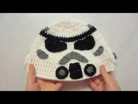 Part 2 Stormtrooper Crochet Hat Tutorial Inspired By Star Wars