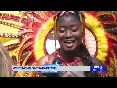 Caribbean colors on display at NYC`s West Indian American Day Parade