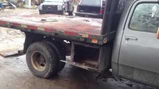 Dodge 3500 1 ton pickup with Dump Flatbed