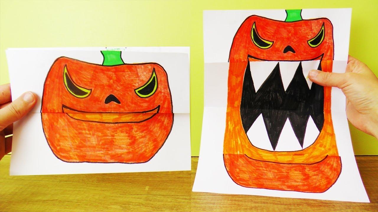 halloween k rbis lieb vs b se klappbare faltkarte zum gruseln erschrecken herbst deko idee. Black Bedroom Furniture Sets. Home Design Ideas