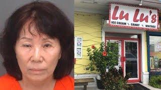 Tiểu tiện vào máy làm kem trong tiệm láng giềng, phụ nữ ở Florida bị bắt
