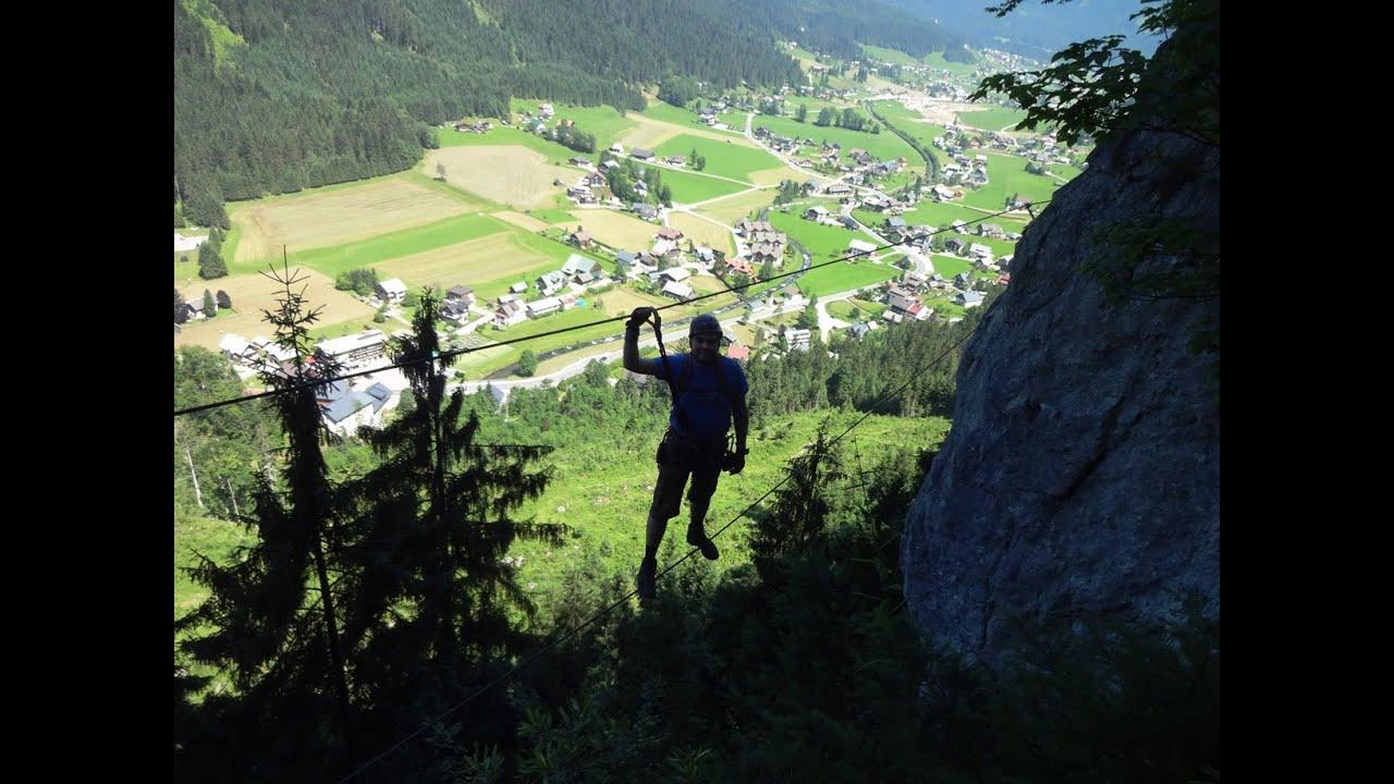 Klettersteig Gosau : Schmied klettersteig c gosau oÖ youtube